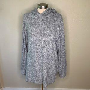 NWT HM SOFT gray hoodie tunic
